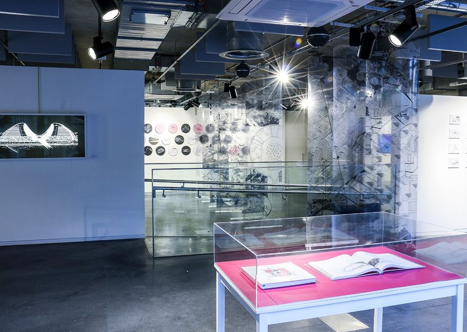 Jan Kaplický Drawings exhibition installation.