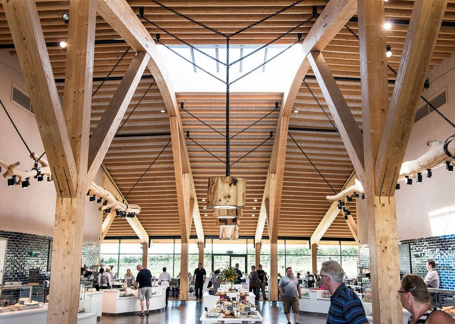 Commercial and leisure - Gloucester Services by Glen Howells Architects, a destination in itself.