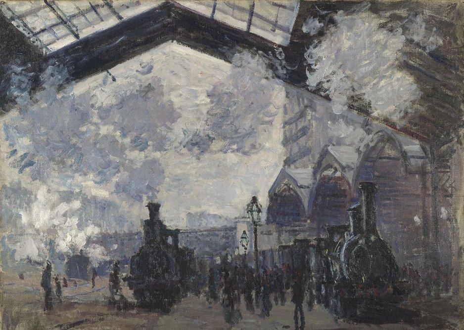 Claude Monet, The Saint-Lazare Railway Station (La Gare Saint-Lazare), 1877.