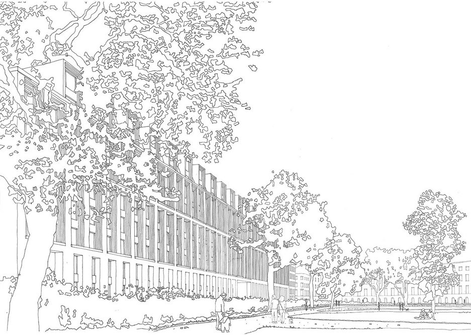 MaccreanorLavington sketch drawing of the project.