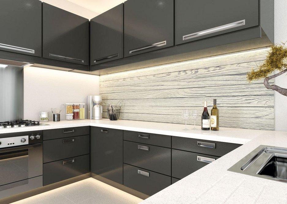 IRO internal cladding, Driftwood, kitchen renovation.