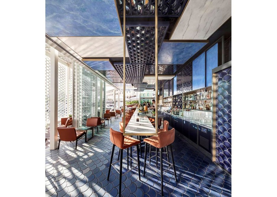 2015 Tile of Spain Awards  –  Interior Design winner: Blue Wave Cocktail Bar by El Equipo Creativo
