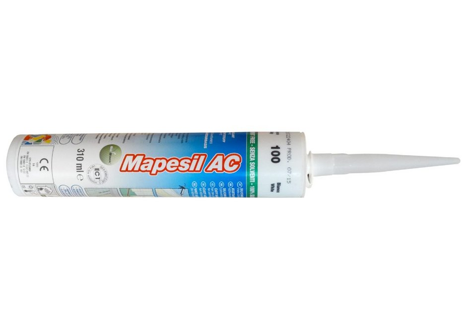 Mapesil AC silicone sealant is flexible down to -40°C and resistant to temperatures at +180°C.