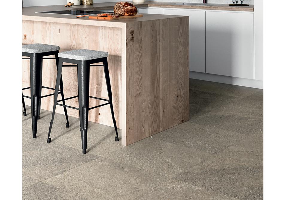 Tarkett iD Inspiration Sediment Beige Naturals LVT flooring.