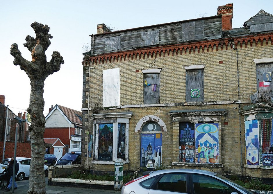 Derelict houses saved from the bulldozer in the Granby Four Streets triangle, now a Community Land Trust.