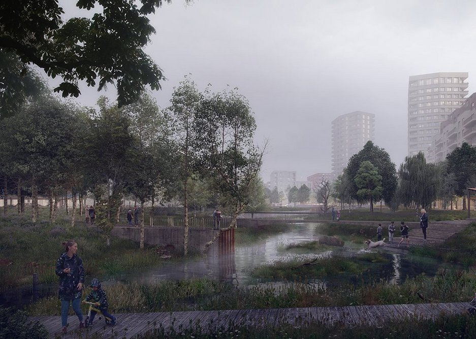 The plans aim to encourage biodiversity around Meridian Water Brooks Park.