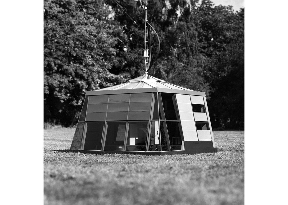 Autonomous House model for the Scientific Research Council at Cambridge. Alexander Pike, 1974