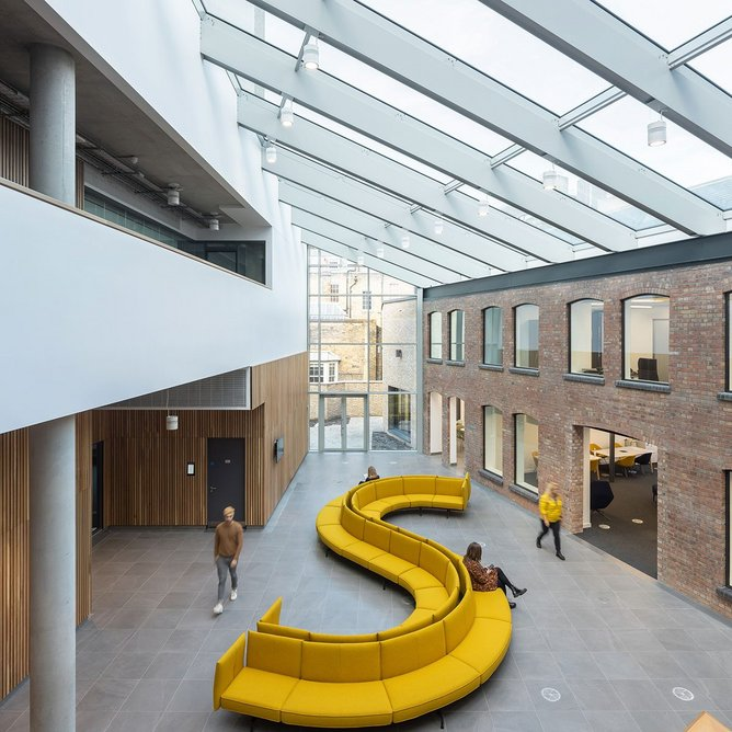 The City Law School, Clerkenwell:  A coherent family of buildings around a flexible hub.