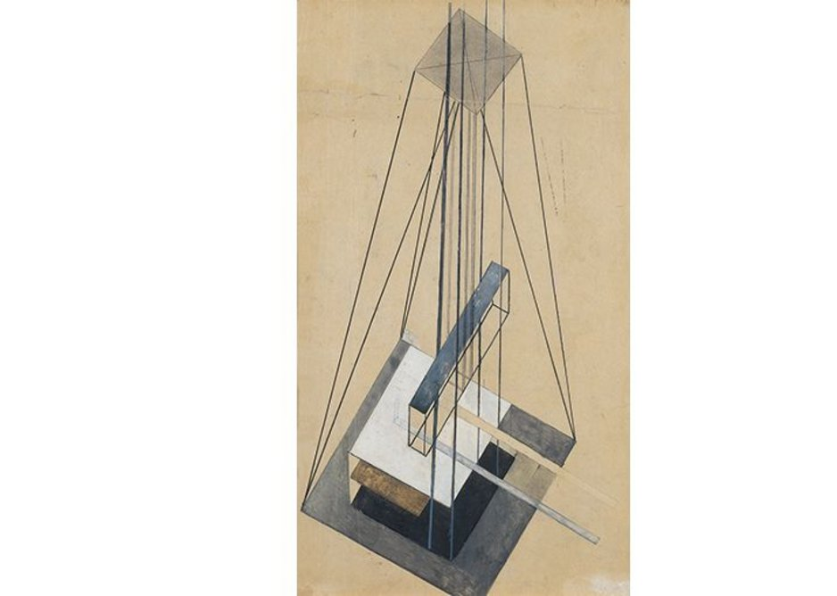 Gustav Klutsis, Architectural Study, 1920-1921.