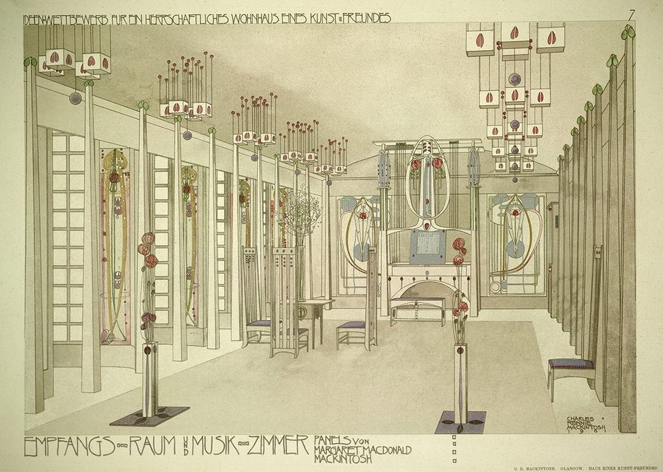 Design for a house for an art lover, 1901