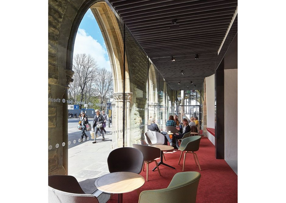 The space is now a much more welcoming café with space to sit.