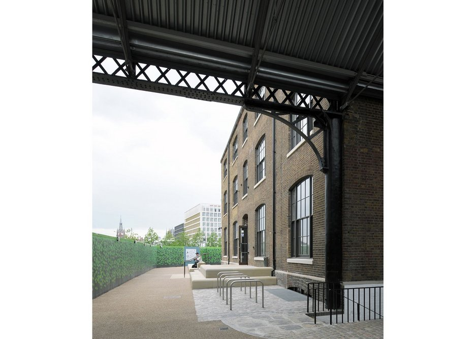 The gallery is housed in a Victorian warehouse.