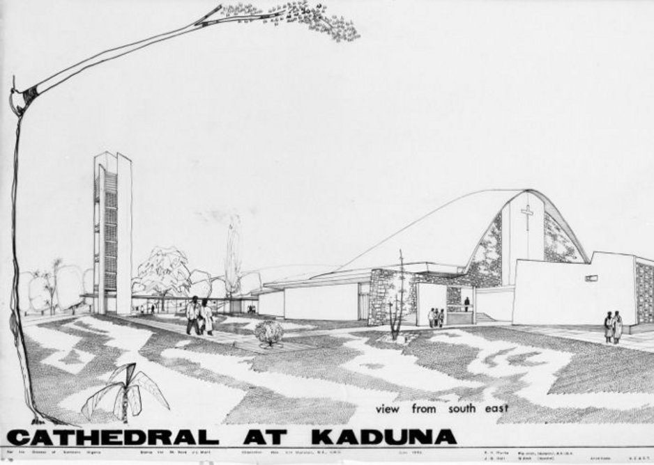 Competition entry for a cathedral at Kaduna, Nigeria, by Ken Murta and Jim Hall
