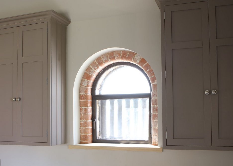 Shaped secondary glazing in a Lincolnshire barn conversion.