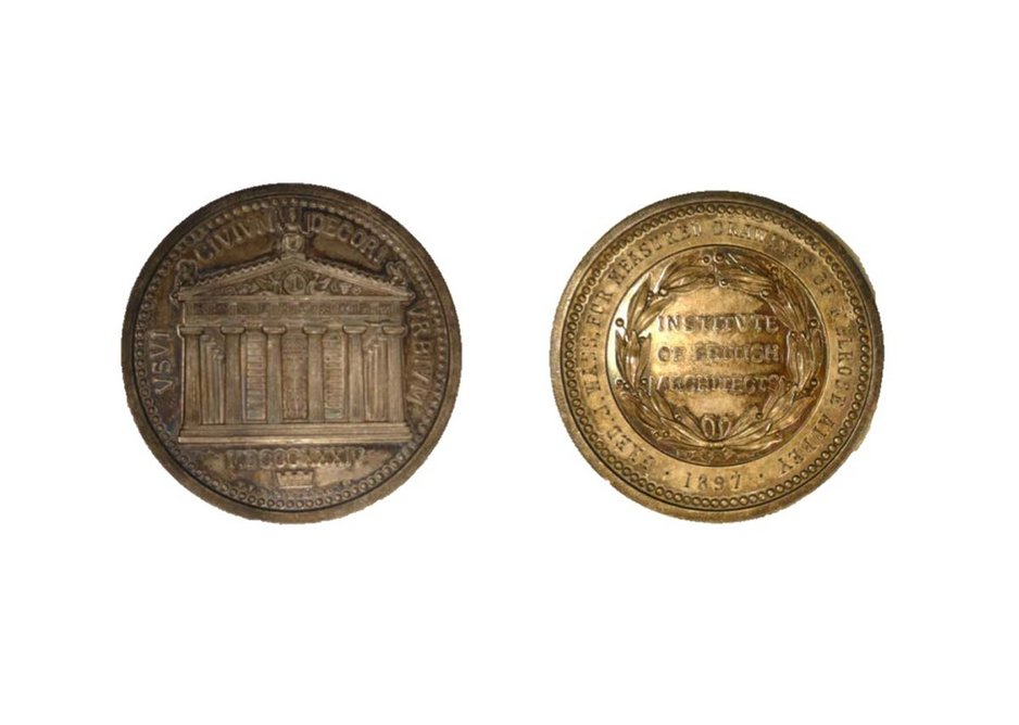 Honorary Medal of the RIBA. Designed by T L Donaldson, 1836