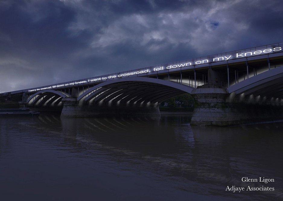 Glenn Ligon – 'Cross Road Blues' (Grosvenor Bridge).