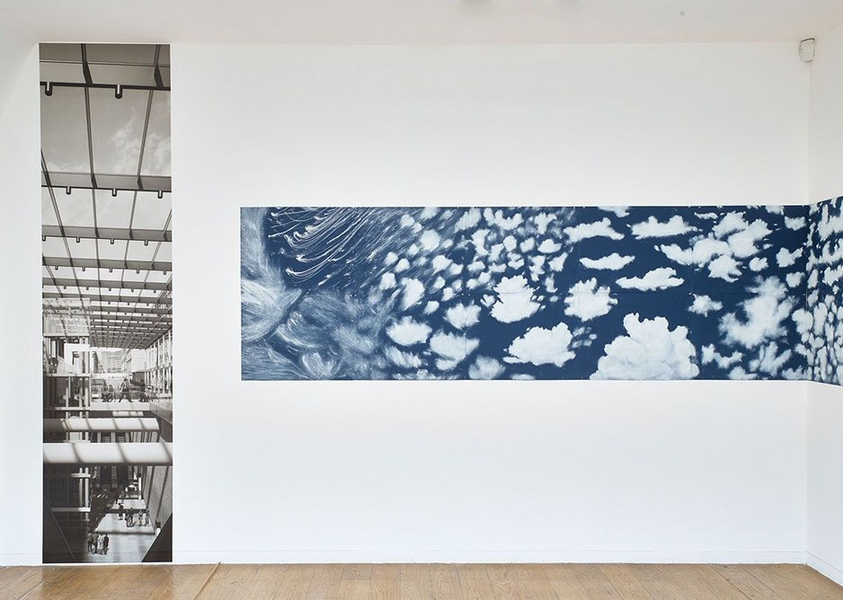 Installation view at the Whitechapel Gallery showing work by Spencer Finch, who is creating A Cloud Index at Farringdon station, Art Capital: Art for the Elizabeth line, Whitechapel Gallery, London, 2018.