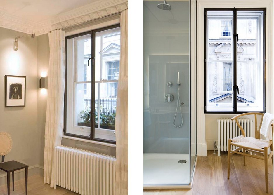 Secondary glazing helps to reduce sound transmission, particularly important in city locations.