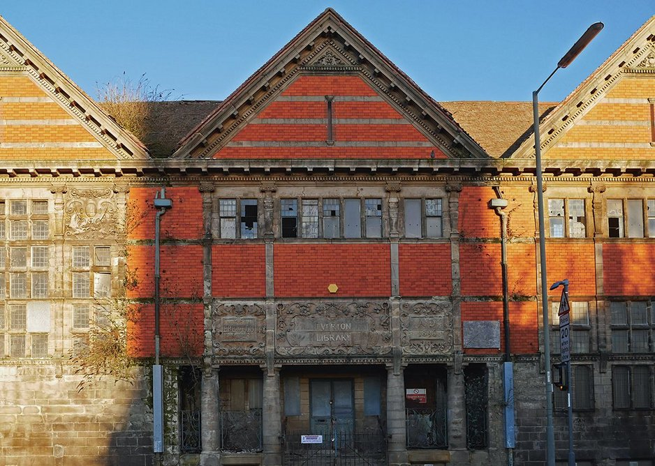 Tragically left to decay: Everton's superb 1896 public library by Thomas Shelmerdine, now seriously at risk.