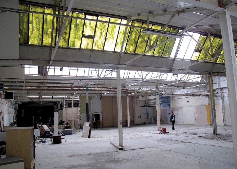 The original 66m by 42m Siemens warehouse.