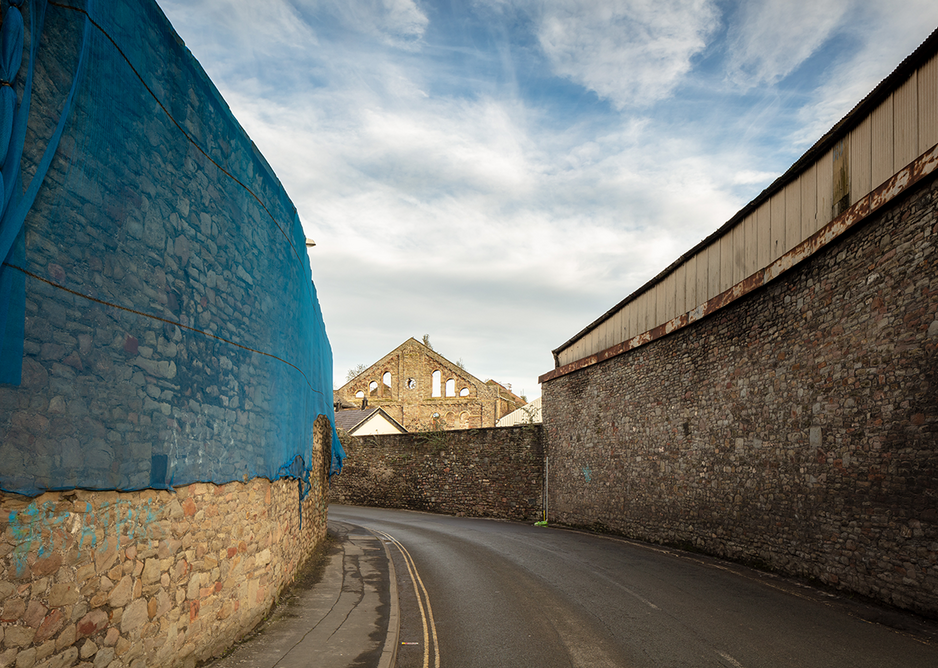 Historic walls in Silverthorne Lane. Plans for this area include a school, housing and student housing.