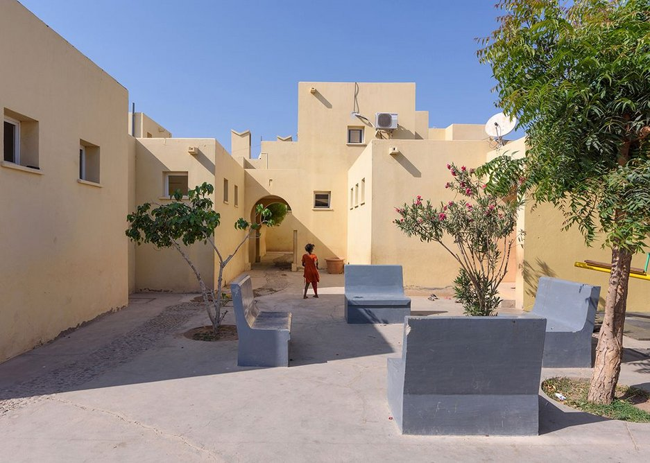 One of the main squares at Tadjourah SOS Children's Village, Djibouti, designed by Urko Sanchez Architects.