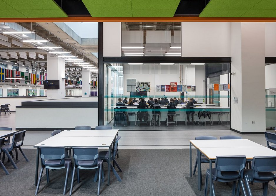 Science block and the open learning area.