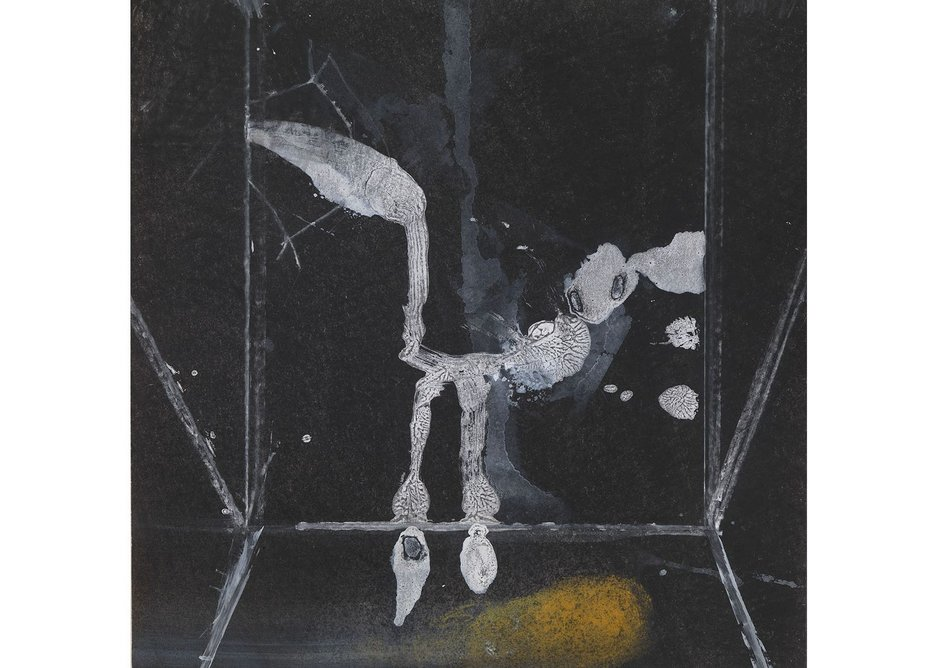 Eileen Gray, Cage, c.1940. Gouache on paper 23 × 23 cm (9 × 9 in).