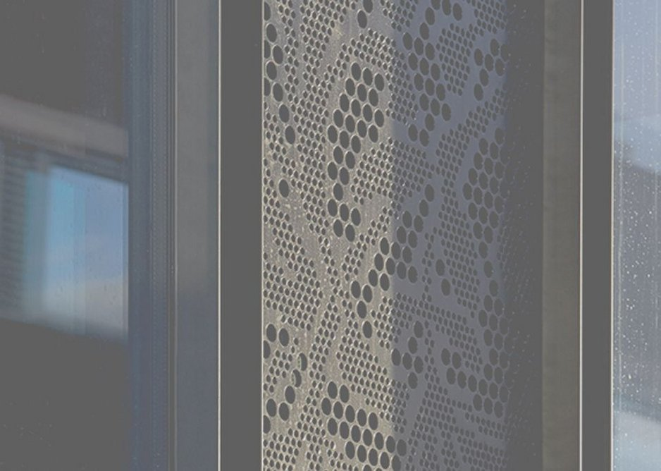 Detail of perforated vent panel.