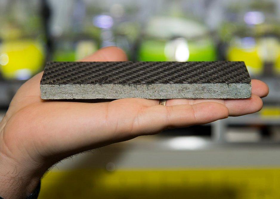 Carbon fiber reinforced granite plate.