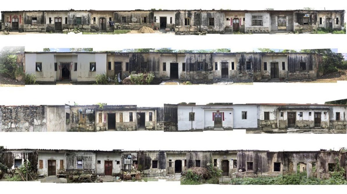 Selection of typical Shigushan commune housing facades, 2016.