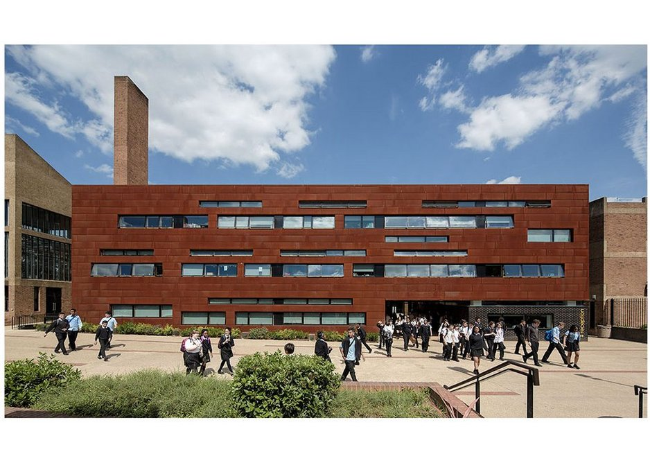 Stoke Newington School, Hackney – new entrance range building completes an otherwise refurbished campus.