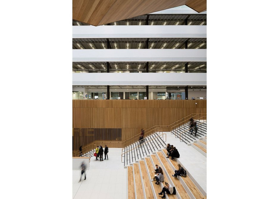 Entrance atrium brings the public and pupils into the body of the building
