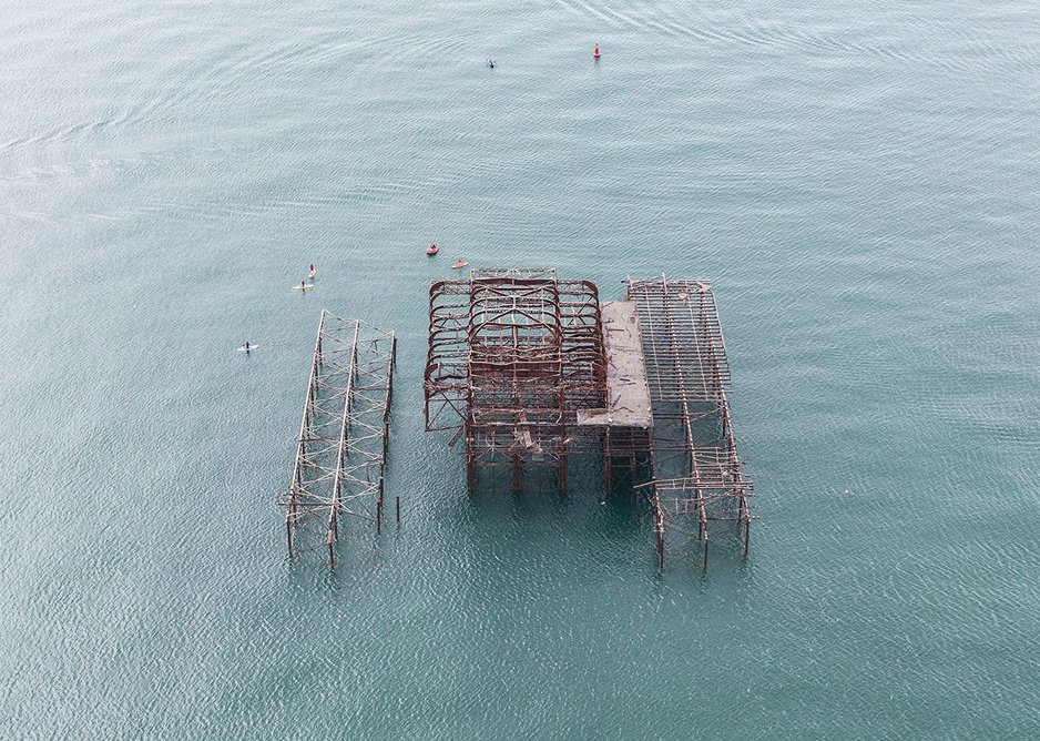 That's what's left of the old West Pier down there and it's still listed.