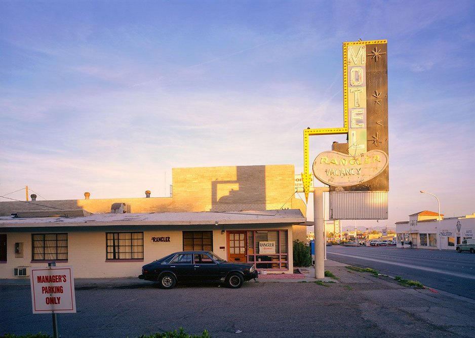 The Rangler Motel by Fred Sigman (1995), from the new book Motel Vegas.