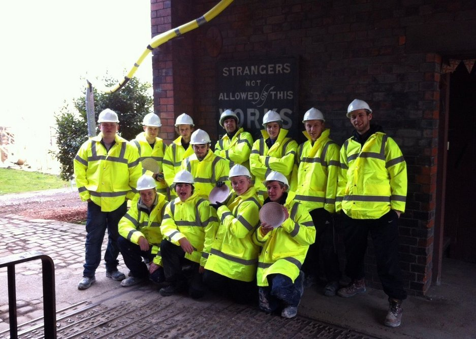 Middleport Pottery 'Get into Construction' trainees.