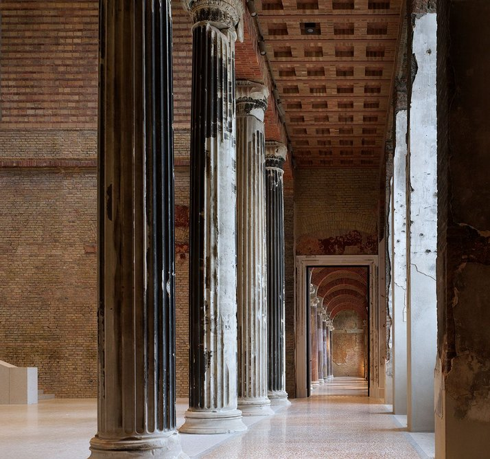 Neues Museum restoration and rebuild, Berlin (with David Chipperfield Architects). Left to right: A Restoration; B Reinstatement; C Reassembly