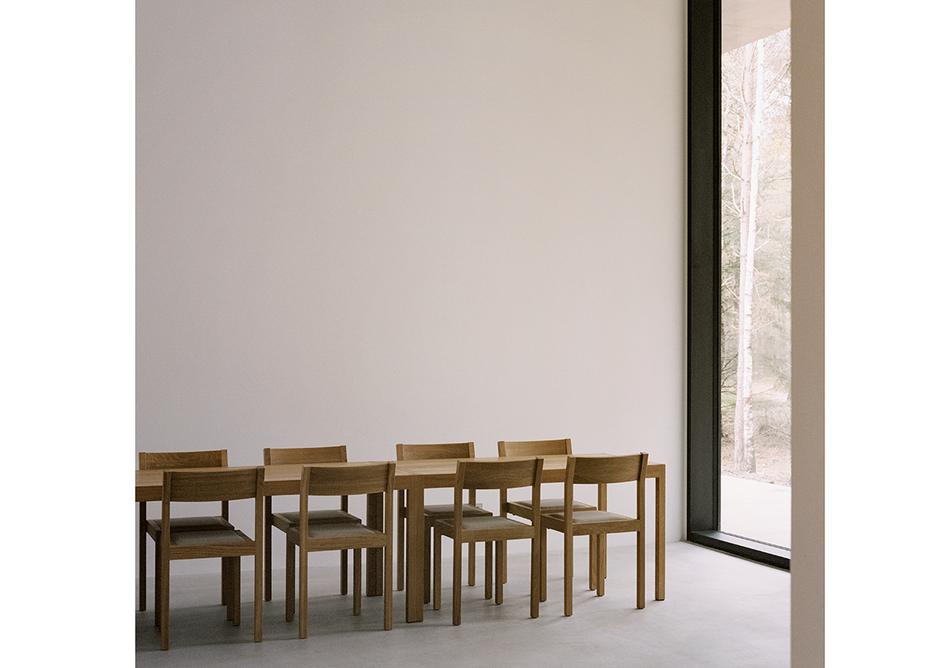 The Loenen Pavilion recfectory, designed by KAAN Architecten. ©Simone Bossi
