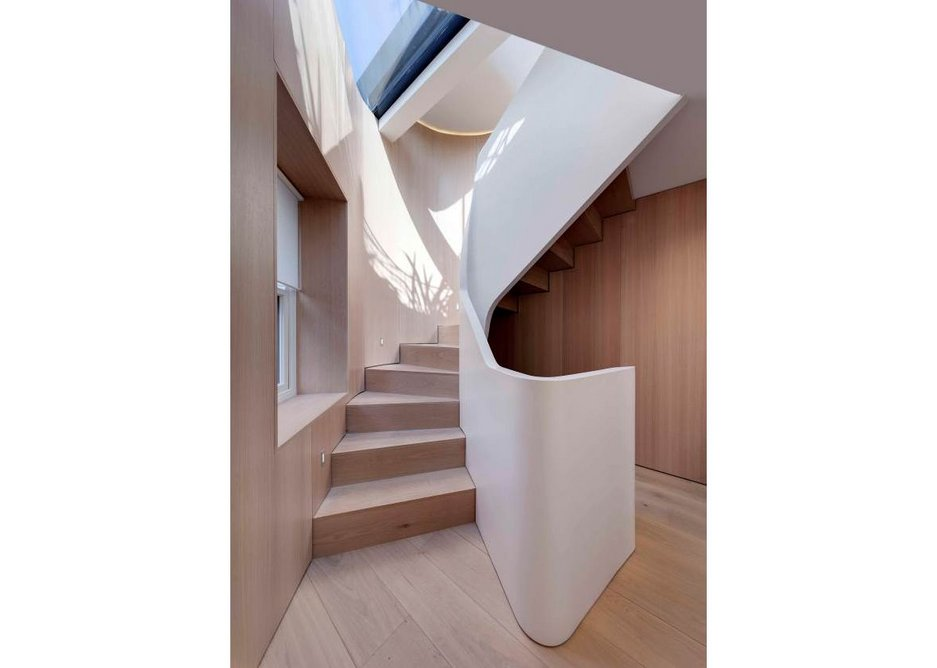 Staircase with rooflight. Credit Bruce Hemming