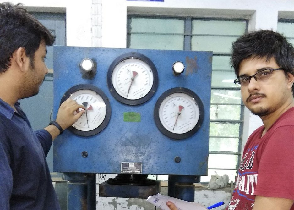Qube researchers in the laboratory in West Bengal.