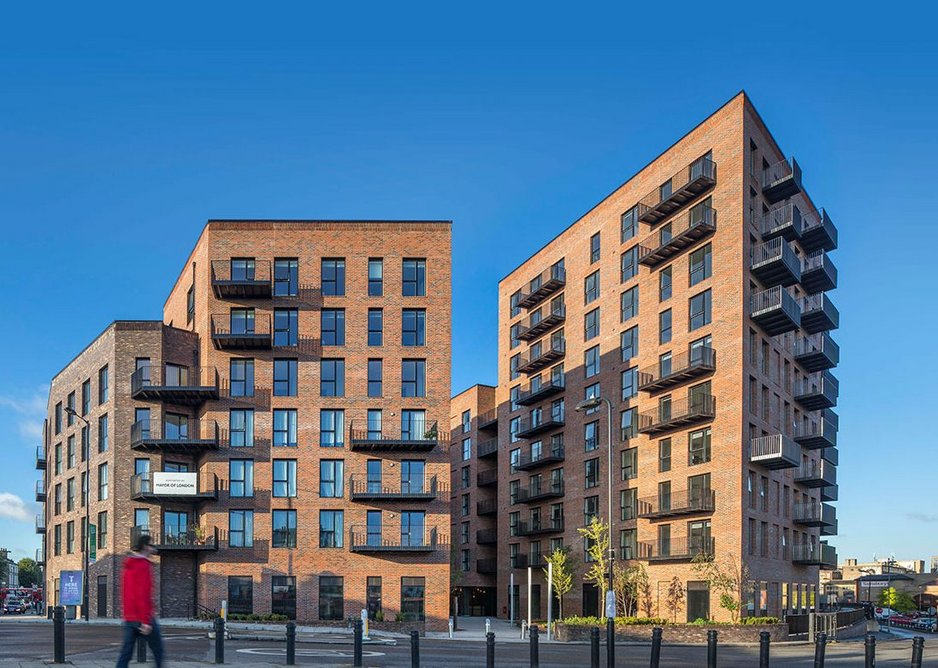 Dalston Works in east London by Waugh Thistleton Architects - the world's largest cross-laminated timber building by volume of wood.