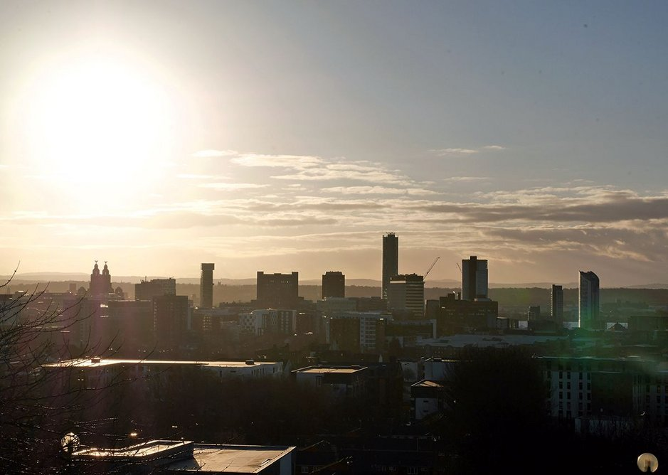 Liverpool, celestial city – looking south from the hilltop viewpoint in Everton.
