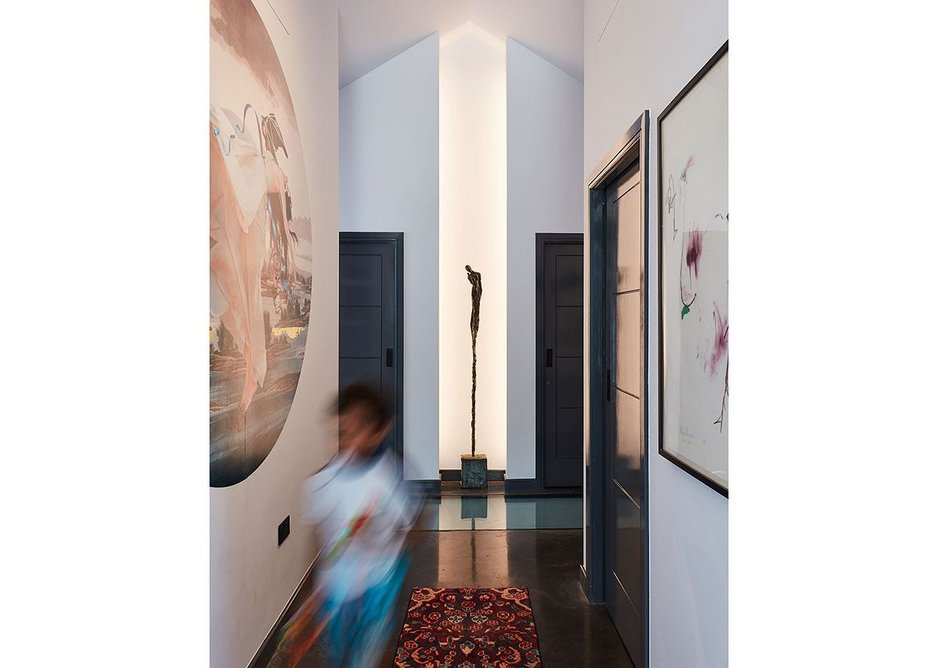 The hallway of the Healthy House.