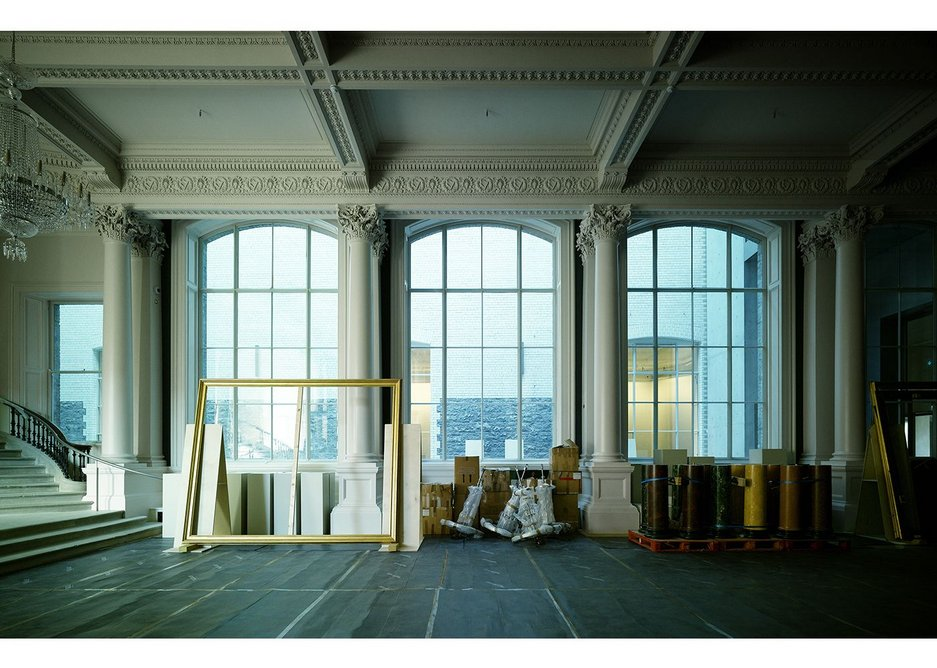Shaw Room, Dargan Wing, with newly re-opened windows.