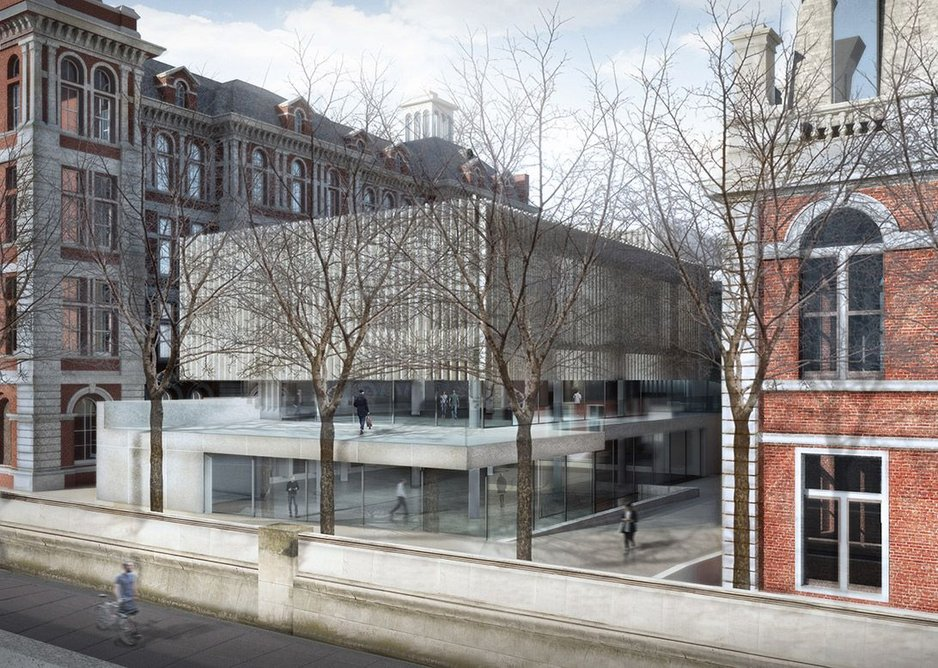Kings College medical school at St Thomas' Hospital, London – Prideaux Extension.