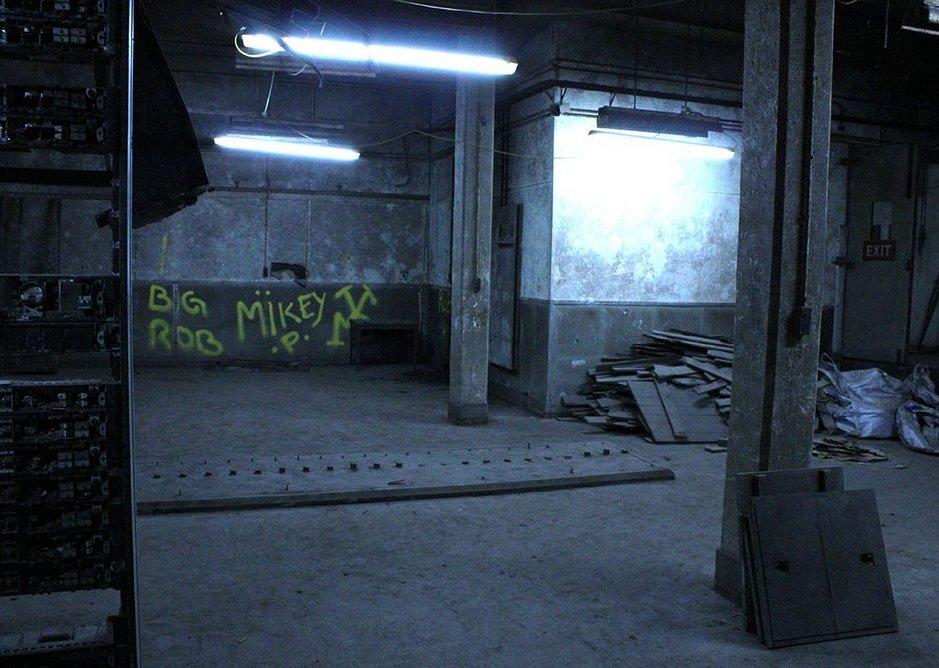 Telecommunications room at Barnton Quarry Bunker, Edinburgh.