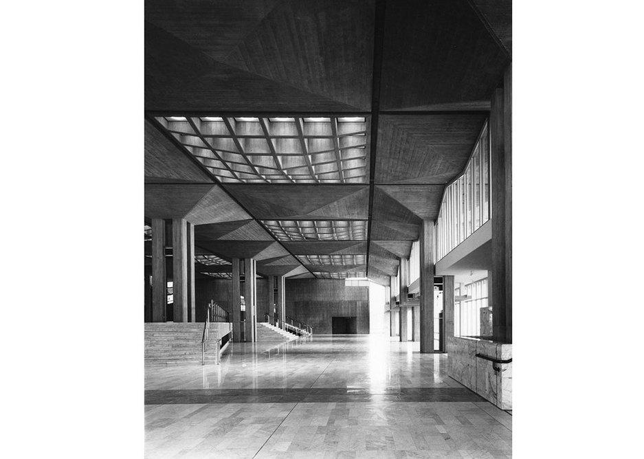 King Faisal Conference Centre, Intercontinental Hotel, mosque and villas designed by Trevor Dannatt & Partners, 1973.