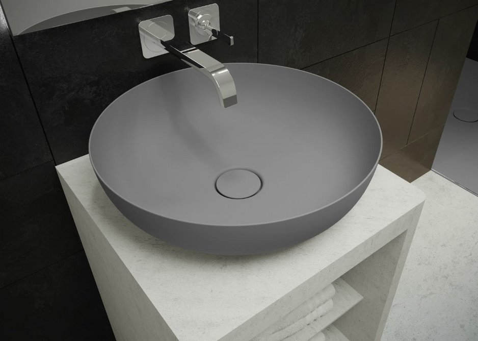 Miena round washbasin bowl in Oyster Grey Matt from Kaldewei's Coordinated Colours Collection.