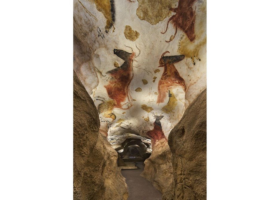 The immersive cave tour takes visitors through an exact copy of the nearby caves.