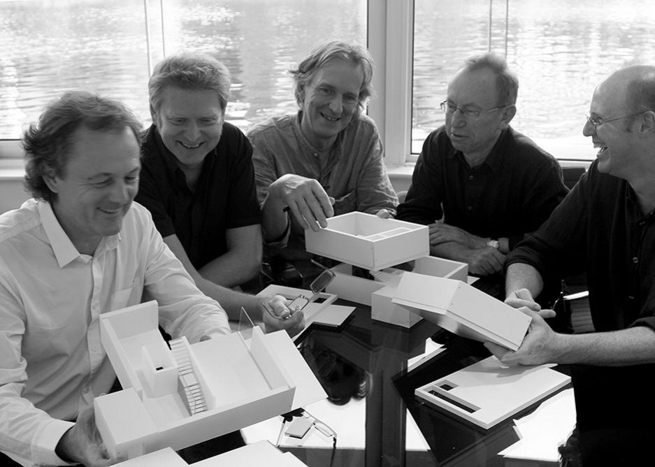 Stanton Williams directors from left: Paul Williams, Patrick Richard, Alan Stanton, Peter Murray and Gavin Henderson. The four design directors and managing director Murray work closely together.